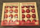 2 Boxes of Vintage Woolworth's Glass Christmas Ornaments          RefOrn#