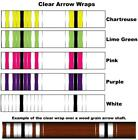 White Water Archery Clear Transparent Traditional 8b Arrow Wraps 15 Pc Pack