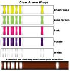 White Water Archery Clear Transparent Traditional 11b Arrow Wraps 15 Pc Pack