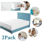 2x Mattress Encasement Protector Zippered Bed Bug Dust Mite Waterproof Cover HP image