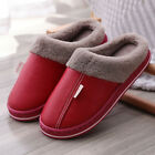 Womens Fur Fleece Lined Mules Winter Slippers Lover Couple Indoor House Shoes UK