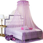 Princess Round Bed Canopy Netting Elegant Lace Curtain Dome Mosquito Net Hanging image