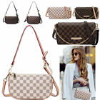 Women Checkered Leather Crossbody Purse Monogram Handbag Clutch Shoulder Bag