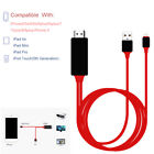 8 Pin Lightning to HDMI TV AV Adapter 2M Cable Fit iPad iPhone X 6 7 8 Plus Fast