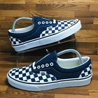 *NEW* Vans Authentic Checkerboard Men's Sizes Skate Sneakers Navy White Shoes