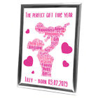 Personalised+Christmas+Gifts+Baby+New+Born+Family+Framed+Card+Disney+Princess