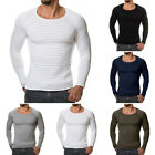 Mens T-Shirt Tops Fitness Bodybuilding Gym Muscle Long Sleeve Slim Tee Shirts