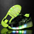 Girls Boys LED Light Roller Skate Shoes  Kids Sneakers With Wheels One Wheels