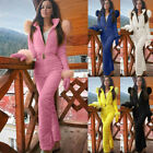 Women Ladies Winter Ski Suit Waterproof Jumpsuit Outdoor Sports Snow Suit USA