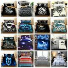 Duvet Cover Bedding Set with Pillow Cases Quilt Cover Single Double King Sizes
