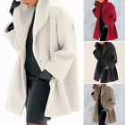 Fashion Womens Trench Coat Cardigan Ladies Long Sleeve Casual Jacket Overcoat