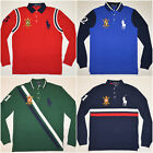 men polo ralph lauren long sleeve mesh polo shirt big pony custom slim fit