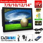 7/9/10/12/14inch 1080P Portable HDMI HD Digital TV Player Freeview Television UK