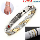 Men Women Bracelet Titanium Magnetic Therapy Bio Healing Cool Arthritis Jewelry