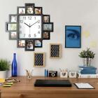10/16In Wall Clock Multi Aperture Modern Collage Photo Family Picture Frame&Time