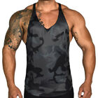Men's Camo Camouflage Sleeveless Muscle Gym Sports Fitness A-Shirt Tank Top Vest