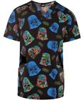 Star Wars Darth Vader Scrub Top Men's V-Neck XS, S, 3XL Cherokee Tooniforms $29.99 USD on eBay