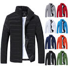 Winter Men's Quilted Padded Coat Bubble Puffer Jacket Parka Overcoat PLUS SIZE