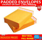 1-100PCS GOLD PADDED BUBBLE ENVELOPES BAGS POSTAL WRAP MAILERS - 230x300mm CR