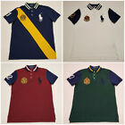 men polo ralph lauren mesh polo shirt big pony custom fit