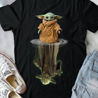 Baby Yoda And Master Yoda Water Reflection Star Wars Black Men Women T-shirt $18.99 USD on eBay