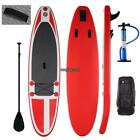 10 Inflatable Stand up Paddle Board Surfboard SUP W Bag Adjustable Paddle Fin
