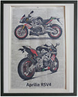 Aprilia RSV4 Motorcycle Print No928 book club gifts dictionary page print