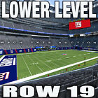 (2) NFL NY GIANTS 2020 Season Tickets ~ ALL HOME GAMES ~ PARKING ~ LOWER LEVEL
