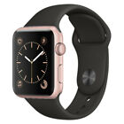 Apple Watch Sport - 38mm/42mm - All Case Colours - Black Sport Band - Smartwatch