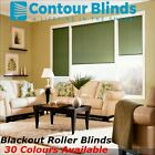 BLACKOUT ROLLER BLINDS In 30 COLOURS, GREEN, YELLOW, BLUES, PINKS, GREYS, WHITE+