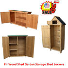 Wooden Garden Shed Outdoor Store Cupboard Tool Storage Lawn Mower Wood Cabinet Y