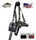 J&J SPRINGFIELD XDS 3.3 W/ RED CRIMSON TRACE HORIZONTAL LEATHER SHOULDER HOLSTER