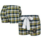Denver Nuggets Concepts Sport Women's Piedmont Flannel Sleep Shorts - Navy/Gold on eBay