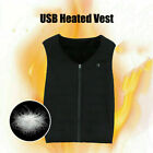 Unisex Electric Vest Heated Jacket USB Thermal Warm Warmer Body Heat Pad Wi T2P9