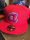 Atlanta Braves MLB Retro Stock 59FIFTY Pro Model Fitted Cooperstown Cap Hat Mens on Ebay
