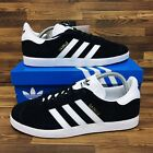*NEW* Adidas Originals Gazelle Men's Athletic Shoes Black Casual Suede Sneakers