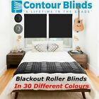 BLACKOUT ROLLER BLINDS IN 30 DIFFERENT COLOURS, BLACK, GREY WHITE PINK BLUE ETC