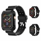Sport Watchband w/Rugged Case For Apple Watch Series 1/2/3/4 38mm 40mm 42mm 44mm