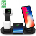 Qi Fast Wireless Charging Dock Stand Station 360 Degree Parts For IWatch Iphone
