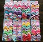18Pcs 5IN/8IN Jojo Bows Alligator Clips Ribbon Hair Bows Girls Hair Accessories