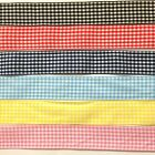 """BB Ribbon GINGHAM CHECK 2m doublesided choice of colours 1"""" 25mm"""