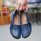 Women Leather Bowed Flat Shoes Comfy Soft Ladies Moccasin Loafers new
