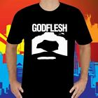 New Godflesh Metal Rock Band Symbol Men's Black T-Shirt Size S to 3XL image