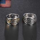 2020 Harley Davidson Biker Bar & Shield Stainless Steel Band Ring Size 6-15 Mens $21.58 USD on eBay