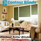 BLACKOUT ROLLER BLINDS In 30 COLOURS-GREEN, YELLOW, BLUES, PINKS, GREYS, WHITE+