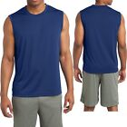 Mens Sleeveless Muscle T-Shirt Shooter Tank Dri Fit Moisture Wick XS-XL 2X 3X 4X