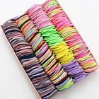 100pcs/3CM Hair Accessories girls Rubber bands Scrunchy Elastic HairBands kids