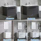 Wall Mount Single Bathroom Vanity Cabinet w/ Undermount Sink Basin&Faucet Small