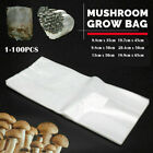 Transparent Mushrooms Spawn Grow Bag Substrate High Temp Pre Sealable Pouches UK