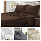 Luxury Flat Bed Sheets Egyptian Comfort 1900 Series Size Twin, Full, King, Queen image